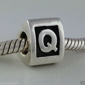 PANDORA Sterling Silver Letter Q Bead Charm